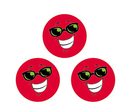 Red Smiles (Strawberry) Small Round Smelly Stickers - 96 per pack.