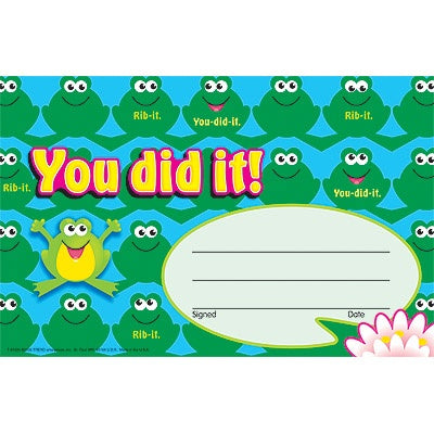 You did it! Frogs Recognition Award (animal) - pack of 30 certificates