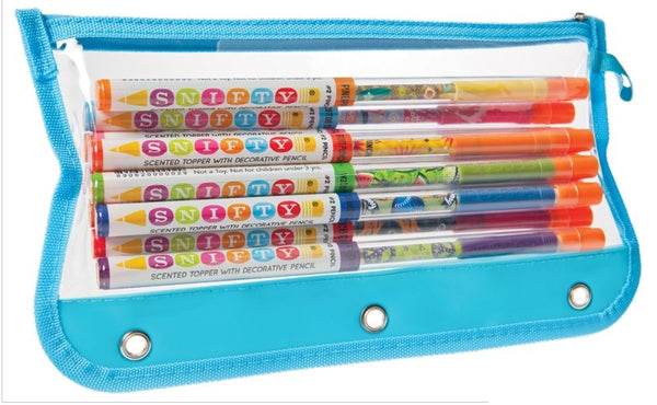 Snifty original pencils - 10 pack with Pencil Case