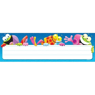 Frog-tastic! Desk Toppers Name Plates - Blue