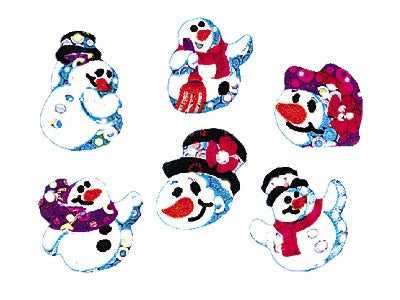 Snow Folks Sparkle Stickers