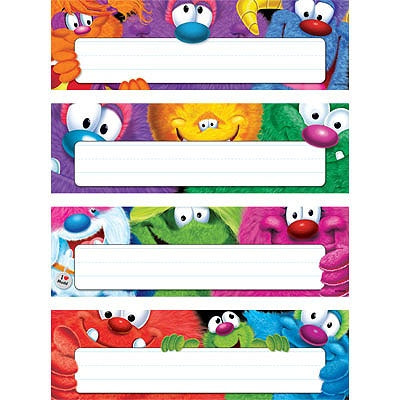 Furry Friends Desk Toppers Name Plates Variety Pack