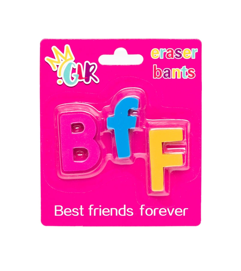'BFF' Eraser Bants - Best Friends Forever