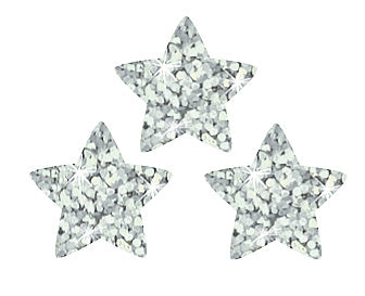Silver Sparkle Stars Stickers - 400 Stickers