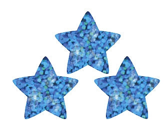 Blue Sparkle Stars Stickers - 400 Stickers per pack