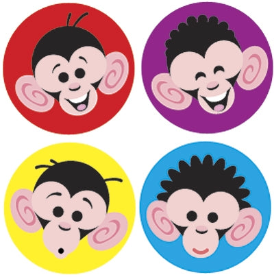 Monkey Mayhem stickers - 800 stickers per pack