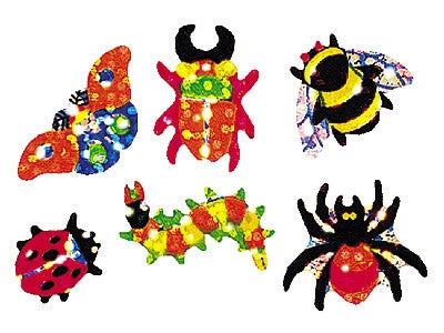 Minibeasts - Beaming Bugs Sparkle Stickers - halloween