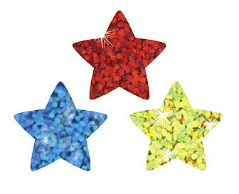 Colourful Sparkle Stars Stickers - 400 Stickers per pack