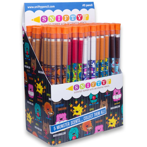 Snifty Pencils Monster Toppers - 100 Pencils