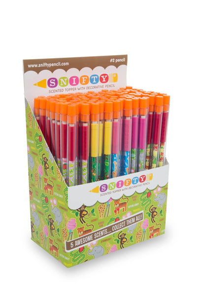 Snifty Pencils Zoo Animals Toppers - 100 Pencils