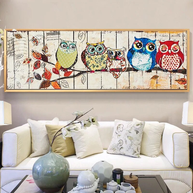 CD1110. Crystal 5D Owls cm.  (Full/Whole Crystal)40*110