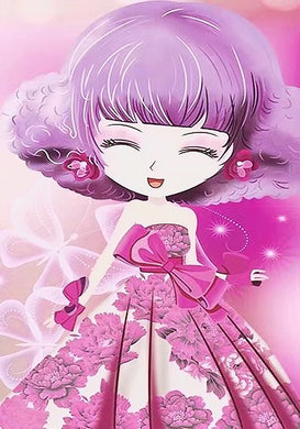XD004 Frame Crystal Cute Girl Pink
