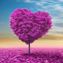 D5044 Crystal 3D Pink Heart Tree50*50