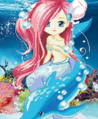XD027 Frame Crystal Mermaid Kid