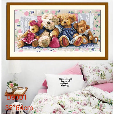 D5003 Crystal 3D Fuffy Family30*60