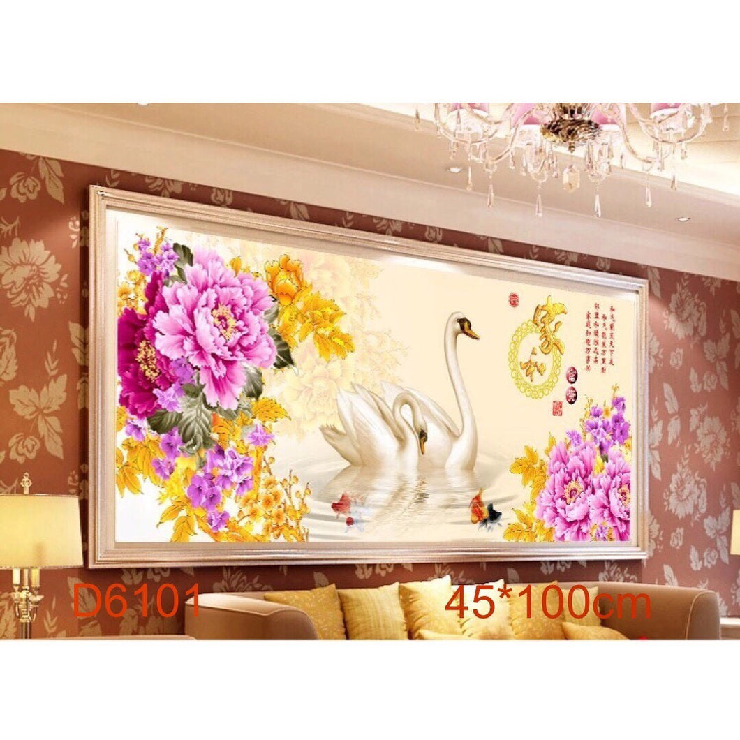 D5058 Crystal 3D Beauty Swan45*100