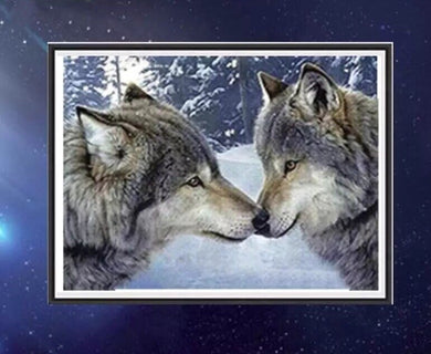 CD1018 Crystal 5D Two Werewolfs30*40