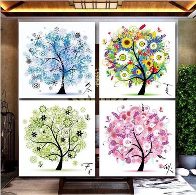 D1040 Crystal 3D Art Tree 55*55