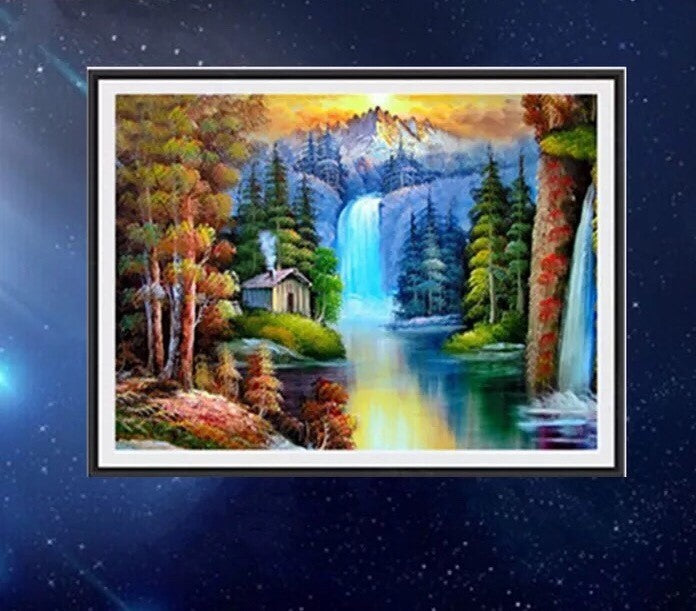 CD1071 Crystal 5D Waterfall Switzerland30*40