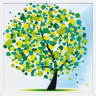 X043 Frame Crystal Green Tree