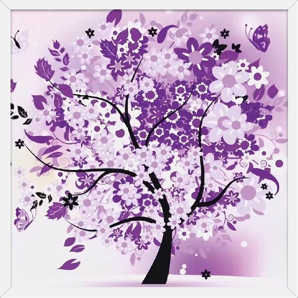 X045 Frame Crystal Purple Tree