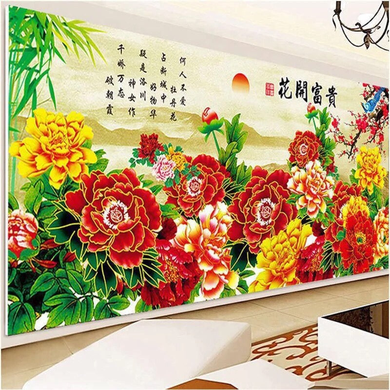CD1109 Crystal 5D Flower  cm.  (Full/Whole Crystal)60*120