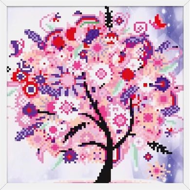 X044 Frame Crystal Pink Tree