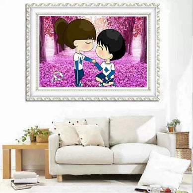D10371 Crystal 3D Pink Tree in love 25*45