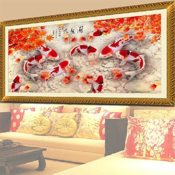CD1099 9 Fishes 45x120cm