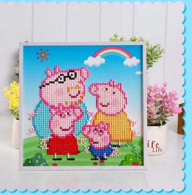 X051 Frame Crystal Peppa Pig Family