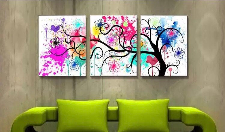 D59372 Crystal 3D Colorful tree 40*120