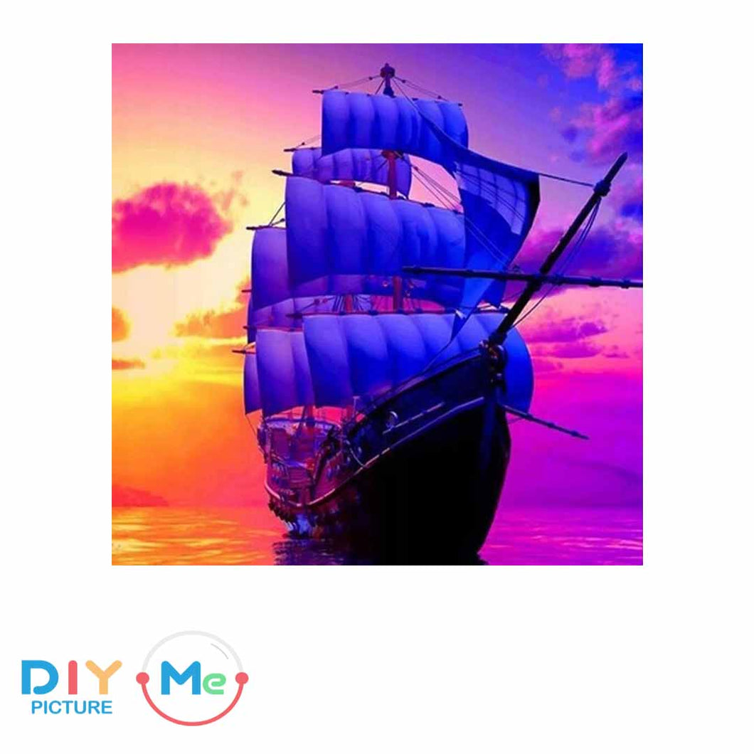 D5302 Crystal 3D Barque Sunrise50*60