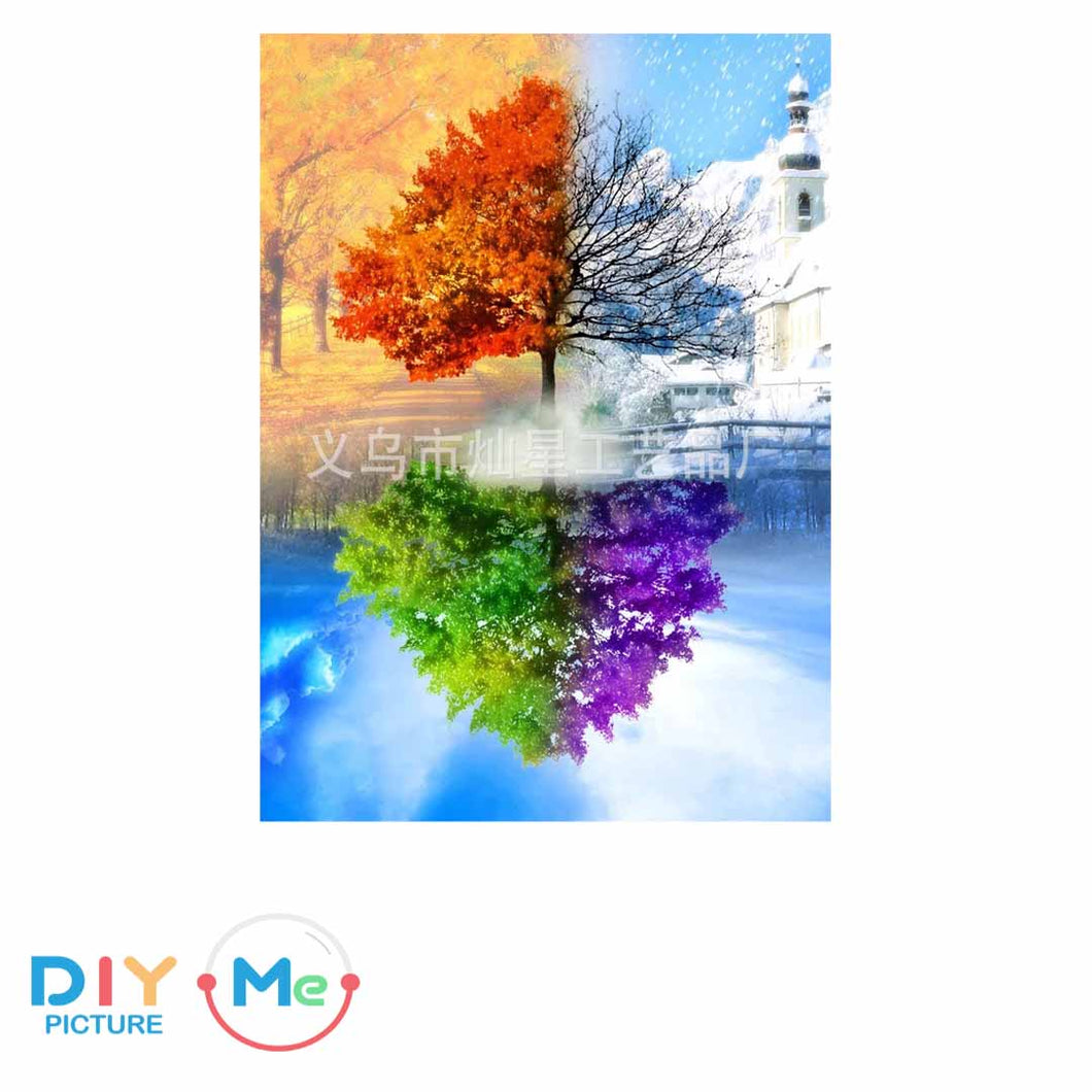 D5314 Crystal 3D Colorful Tree30*40