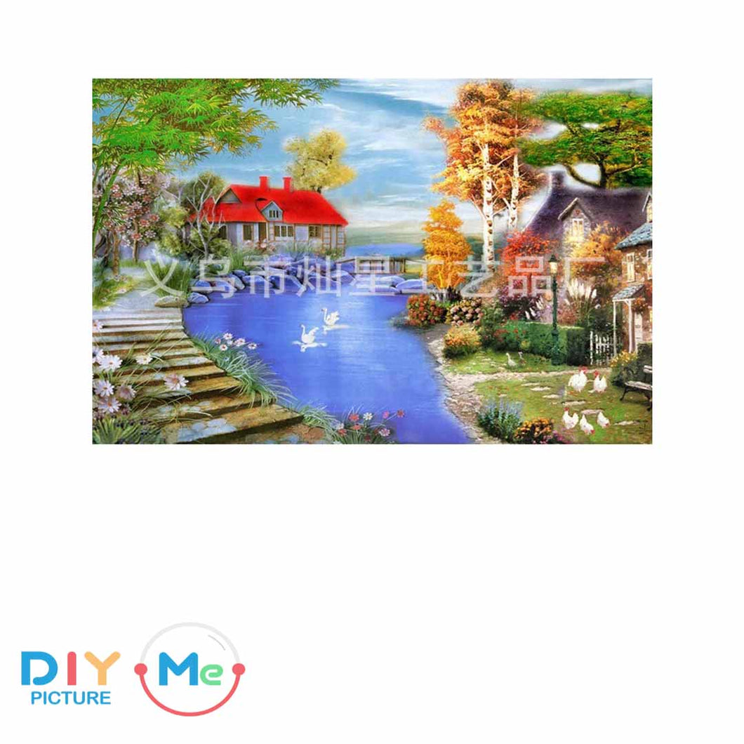 D5315 Crystal 3D River House30*40