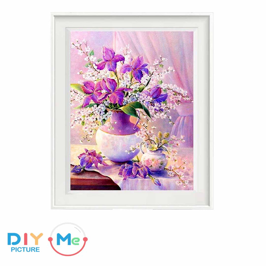 D5317 Crystal 3D Violet Flower30*40