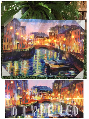LED Picture LD105 Venice Canal