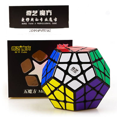 Rubik Megaminx 12 color Black Qiyi Qiheng
