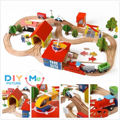Woodtoy Train for Kids 69 pcs