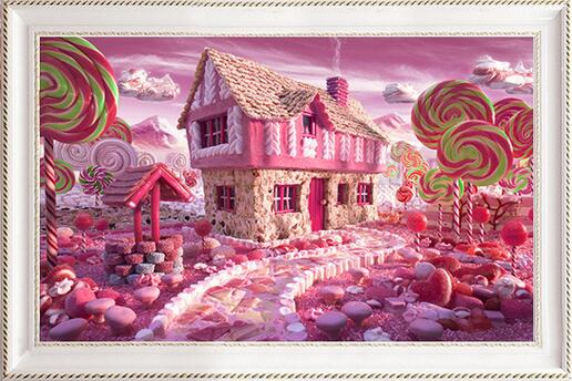 CD1067 Crystal 5D Pinky House40*50
