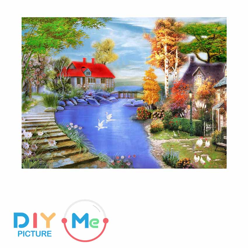 D5919 Crystal 3D Warm House30*40