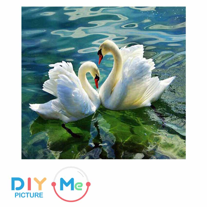 D5926 Crystal 3D Couple Swan40*40