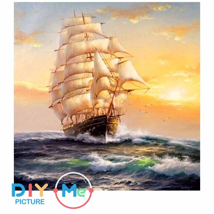 D59314 Crystal 3D Sailing on Sunset 30*40