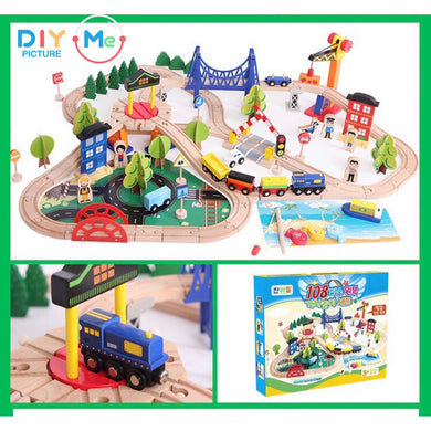 Woodtoy Train for Kids 108 pcs