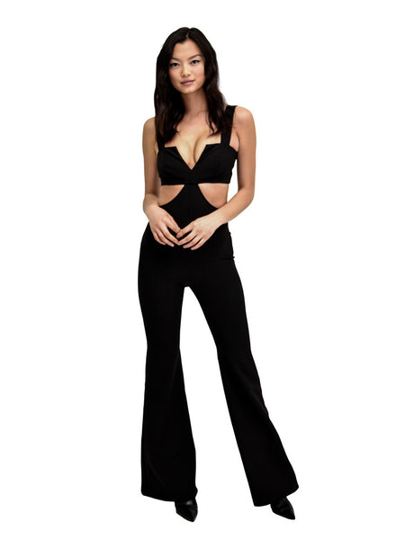 CUTOUT JUMPSUIT BLACK