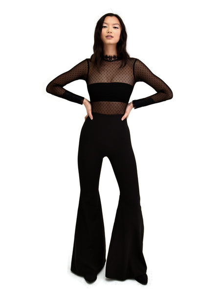LACE JUMPSUIT BLACK