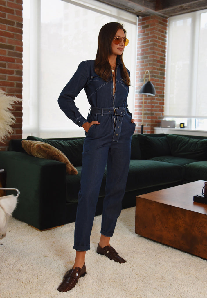 UTILITY JUMPSUIT DENIM
