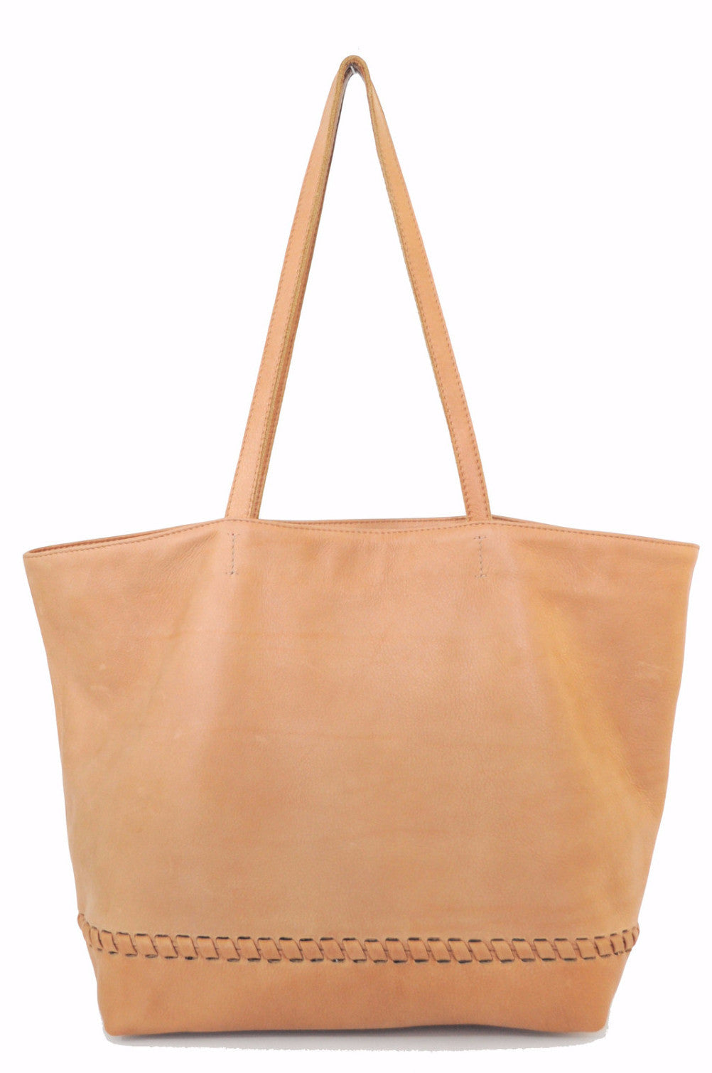 Simple Braided Tote Tan - ShopPositiveElements.com