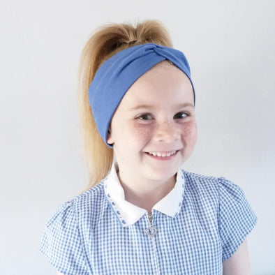 Royal Blue WideKnot Headband