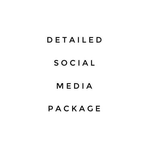 Detailed Social Media Package