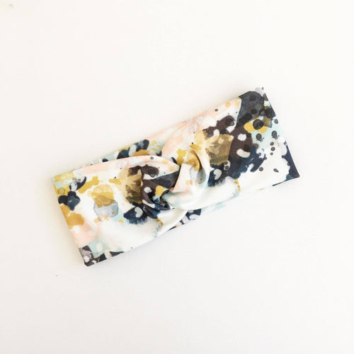 Abstract Splash WideKnot Headband